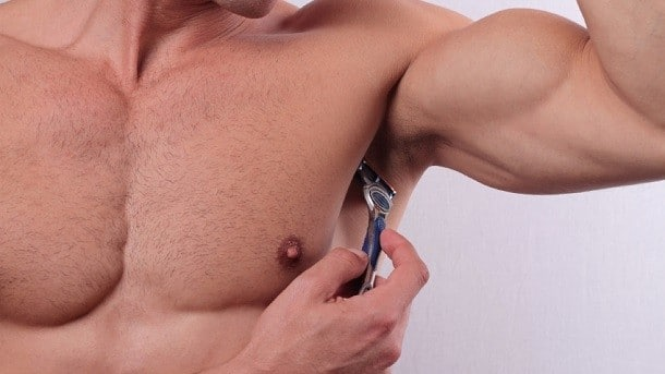 shaving the armpits